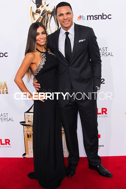 PASADENA, CA, USA - OCTOBER 10: Tony Gonzalez, October Gonzalez arrive at the 2014 NCLR ALMA Awards held at the Pasadena Civic Auditorium on October 10, 2014 in Pasadena, California, United States. (Photo by Celebrity Monitor)
