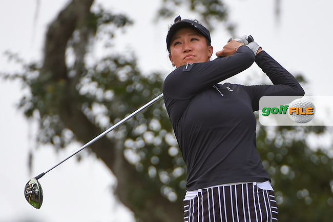 Annie Park (USA) watches her tee shot on 10 during round 2 of the 2019 US Women's Open, Charleston Country Club, Charleston, South Carolina,  USA. 5/31/2019.<br /> Picture: Golffile | Ken Murray<br /> <br /> All photo usage must carry mandatory copyright credit (© Golffile | Ken Murray)