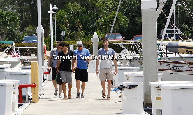 John Driscoll, Ryan Paevey, Sean Carrigan, Craig - Actors from Y&R, Days and General Hospital donated their time to Southwest Florida 16th Annual SOAPFEST and during the weekend took a break to chill on one of the boats to see dolphins and to swim off Marco Island, Florida on May 23, 2015 - a celebrity weekend May 22 thru May 25, 2015 benefitting the Arts for Kids and children with special needs and ITC - Island Theatre Co.  (Photos by Sue Coflin/Max Photos)