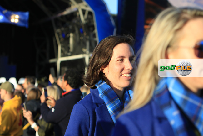 Carlota Ciganda (EUR) during the Opening Ceremony of the Solheim Cup 2019 at Gleneagles Golf CLub, Auchterarder, Perthshire, Scotland. 12/09/2019.<br /> Picture Thos Caffrey / Golffile.ie<br /> <br /> All photo usage must carry mandatory copyright credit (© Golffile | Thos Caffrey)