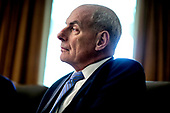 White House Chief of Staff John Kelly attends a Cabinet Meeting in the Cabinet Room of the White House on August 16, 2018 in Washington, DC.<br /> Credit: Oliver Contreras / Pool via CNP