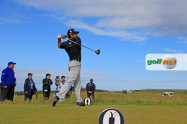 Jason DAY (AUS) tees off the 16th tee during Sunday's Round 3 of the 144th Open Championship, St Andrews Old Course, St Andrews, Fife, Scotland. 19/07/2015.<br /> Picture Eoin Clarke, www.golffile.ie
