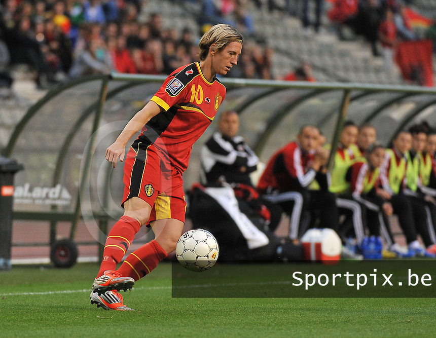 20130921 - BRUSSELS , BELGIUM : Belgian Aline Zeler  pictured during the female soccer match between Belgium and Albania , on the first matchday in group 5 of the UEFA qualifying round to the FIFA Women World Cup in Canada 2015 at the Koning Boudewijn Stadion , Brussels . Saturday 21th September 2013. PHOTO DAVID CATRY