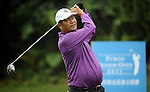 TAIPEI, TAIWAN - NOVEMBER 18:  Lin De Ming of Taiwan tees off on the 17th hole during day one of the Fubon Senior Open at Miramar Golf & Country Club on November 18, 2011 in Taipei, Taiwan.  Photo by Victor Fraile / The Power of Sport Images