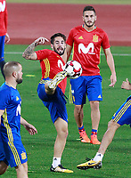 Spain's Isco Alarcon (l) and Koke Resurrecccion during training session. October 2,2017.(ALTERPHOTOS/Acero)<br /> <br /> Foto Alterphotos / Insidefoto <br /> ITALY ONLY