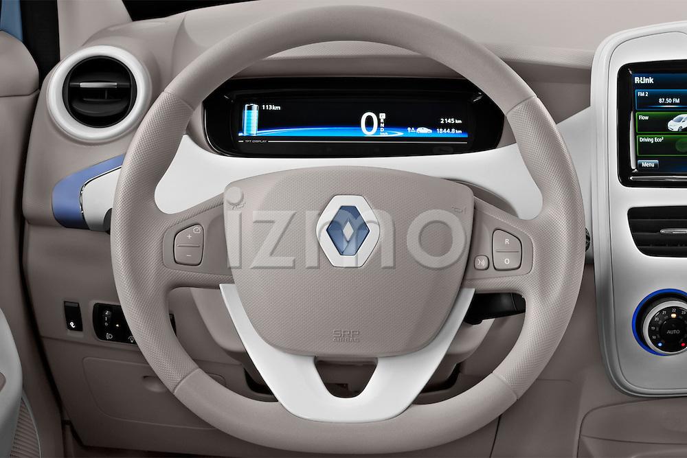 Steering wheel view of a 2013 Renault Zoe Life ZE Hatchback2013 Renault Zoe Life ZE Hatchback
