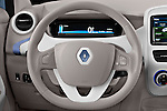 Steering wheel view of a 2013 Renault Zoe Life ZE Hatchback2013 Renault Zoe Life ZE Hatchback
