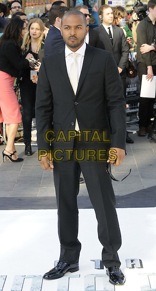 Noel Clarke.attended the 'Star Trek: Into Darkness 3D' UK film premiere, Empire cinema, Leicester Square, London, England, UK, .2nd May, 2013..full length suit white shirt black tie cream .CAP/CAN.©Can Nguyen/Capital Pictures.