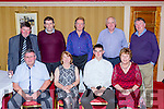 Enjoying the Oweneycree Angling club dance in the Killarney avenue Hotel on Friday night were Michael J O'Keeffe Chairman, Noreen O'Keeffe, Michael Shannon, Kitty Brennan. Back row: Ted Leizcyski, Donal o'Doherty, PJ Murrihy, Pat PcSparron and Jer Coakley