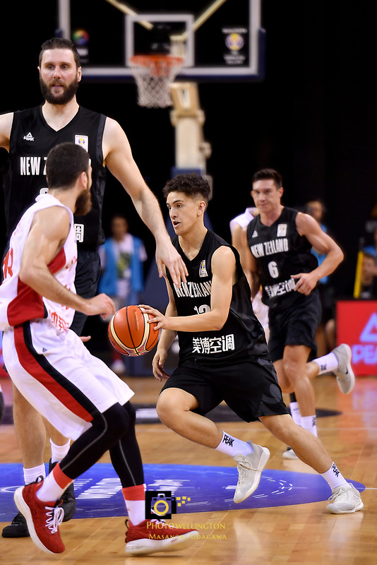 New Zealand Tall Blacks' Kruz Perrott-Hunt in action during the FIBA World Cup Basketball Qualifier - NZ Tall Blacks v Syria at TSB Bank Arena, Wellington, New Zealand on Sunday 2 2018. <br /> Photo by Masanori Udagawa. <br /> www.photowellington.photoshelter.com