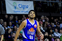 Saints' Shea Ili in action during the national basketball league match between Cigna Wellington Saints and Hawkes Bay Hawks at TSB Bank Arena in Wellington, New Zealand on Sunday, 27 May 2018. Photo: Dave Lintott / lintottphoto.co.nz