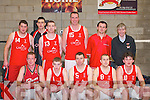 TEAM-MATES: The St Marys team who competed in the Old Forge Basketball Blitz in Killorglin Community Centre last Saturday. Front row l-r: David Marshall, Joe Watson, Tom Fleming, Declan Wall and Frank Rahilly. Back row l-r: Niall Murphy, Dan Griffin, Neilus Lyons, Maurice Casey, Ruairi Rahilly and Vince Barry (Coach)..