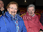 Mary King and Eileen Gillispie at The High Kings at St. Kevins Community Centre Phillipstown. Photo:Colin Bell/pressphotos.ie