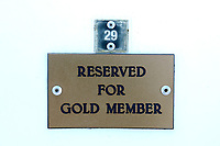 General view of the Reserved for Gold Member signage ahead of Sussex Sharks vs Essex Eagles, NatWest T20 Blast Cricket at The 1st Central County Ground on 18th August 2017