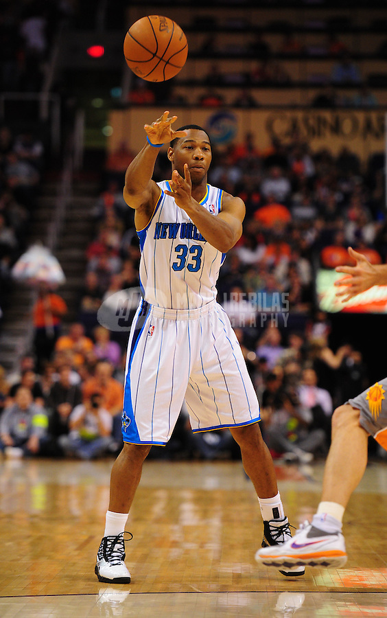 Mar. 25, 2011; Phoenix, AZ, USA; New Orleans Hornets guard (33) Willie Green against the Phoenix Suns at the US Airways Center. The Hornets defeated the Suns 106-100. Mandatory Credit: Mark J. Rebilas-