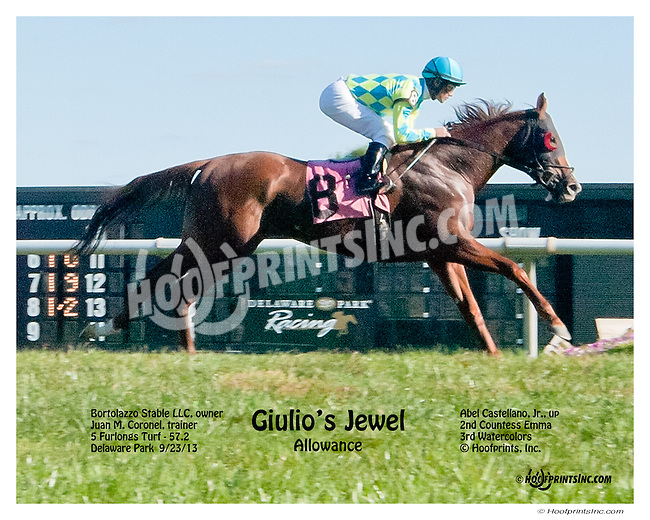 Gulio's Jewel winning at Delaware Park on 9/23/13