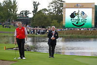 September 24th, 2006. European Ryder Cup team player Colin Montgomerie on the edge of the 17th green during the singles final session of the last day of the 2006 Ryder Cup at the K Club in Straffan,. County Kildare in the Republic of Ireland...Photo: Eoin Clarke/ Newsfile..