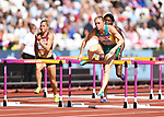 Sally PEARSON (AUS) clears the last hurdle in the womens 100m hurdles heats. IAAF world athletics championships. London Olympic stadium. Queen Elizabeth Olympic park. Stratford. London. UK. 11/08/2017. ~ MANDATORY CREDIT Garry Bowden/SIPPA - NO UNAUTHORISED USE - +44 7837 394578
