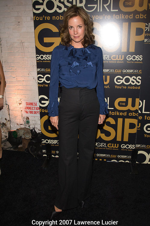 """Actor Margaret Colin arrives at the party for the premiere of the CW Network's """"Gossip Girl"""" September 18, 2007, at Tenjune in New York City. (Pictured : MARGARET COLIN)."""