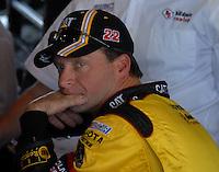 Mar 30, 2007; Martinsville, VA, USA; Nascar Nextel Cup Series driver Dave Blaney (22) during practice for the Goody's Cool Orange 500 at Martinsville Speedway. Martinsville marks the second race for the new car of tomorrow. Mandatory Credit: Mark J. Rebilas