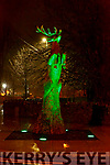 The Stag sculpture turned green for St Patricks Day