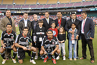 2006 MLS Regular Season Match at RFK Stadium, DC United Decade's best 11 squad, final score DC United 1, FC Dallas 1, Saturday, April 29.