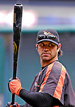 19 May 2007: Baltimore Orioles second baseman Brian Roberts awaits his turn in the batting cage prior to facing the Washington Nationals at RFK Stadium in Washington, DC. The Orioles defeated the Nationals 3-2 in the second game of the 3-game interleague series...Mandatory Photo Credit: Ed Wolfstein Photo