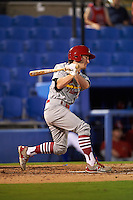 Palm Beach Cardinals outfielder Casey Turgeon (11) at bat during the second game of a doubleheader against the Dunedin Blue Jays on July 31, 2015 at Florida Auto Exchange Stadium in Dunedin, Florida.  Dunedin defeated Palm Beach 4-0.  (Mike Janes/Four Seam Images)