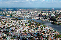 Vista Aerea de la zona de los tres brazo. Varias escenas de pobreza en diferente parte del país..Lugar:Santo Domingo, Republica Dominicana..Foto:Cesar de la Cruz.Fecha:.
