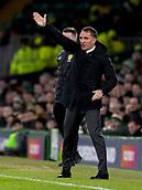 6th February 2019, Celtic Park, Glasgow, Scotland; Ladbrokes Premiership football, Celtic versus Hibernian; Brendan Rodgers Celtic Manager sends in instructions