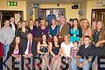 Katie White Rathmore seated centre celebrates her 21st birthday in Cahills bar Rathmore on Friday night with her family and friends