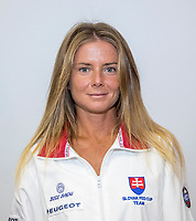 Bratislava, Slovenia, April 21, 2017,  FedCup: Slovakia-Netherlands, Draw ceremony, Daniela Hantuchova (SVK)<br /> Photo: Tennisimages/Henk Koster