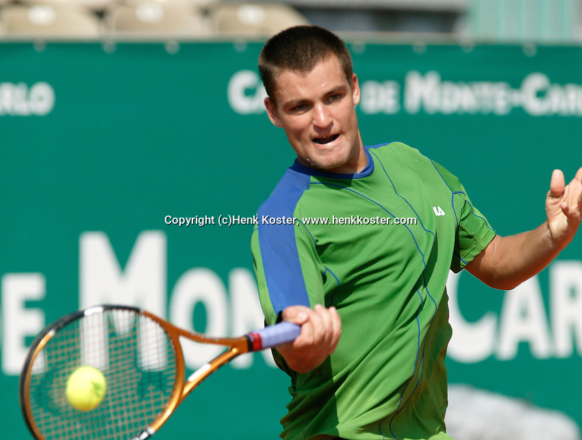 18-4-06, Monaco, Tennis,Master Series, 18-4-06, Monaco, Tennis,Master Series, Youzhny in action against Coria