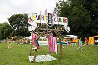 Nederland  Amsterdam 2017. Tijdelijke Buurtcamping in het Rembrandtpark.  Foto Berlinda van Dam / Hollandse Hoogte