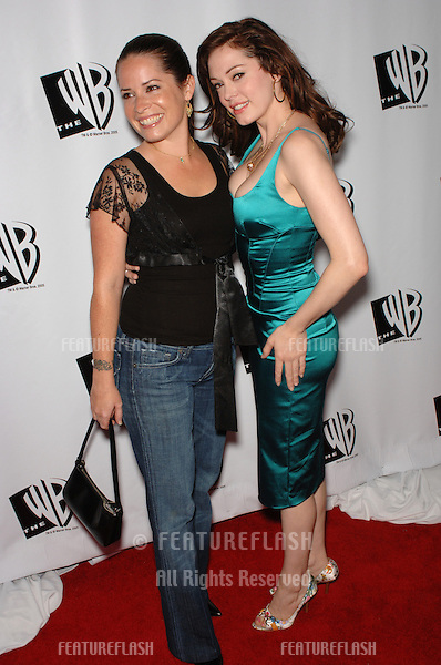 "Actresses ROSE McGOWAN (right) & HOLLY MARIE COMBS, stars of TV series ""Charmed"", at the WB TV Network's 2005 All Star Celebration in Hollywood..July 22, 2005  Los Angeles, CA.© 2005 Paul Smith / Featureflash"