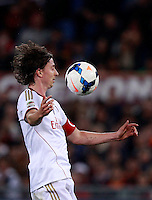 Calcio, Serie A: Roma vs Milan. Roma, stadio Olimpico, 25 aprile 2014.<br /> AC Milan midfielder Riccardo Montolivo controls the ball during the Italian Serie A football match between AS Roma and AC Milan at Rome's Olympic stadium, 25 April 2014.<br /> UPDATE IMAGES PRESS/Isabella Bonotto