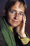 Susanna Tamaro at book fair in Paris.