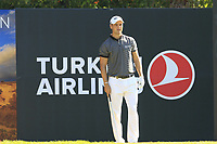 Martin Kaymer (GER) on the 8th tee during Saturday's Round 3 of the 2018 Turkish Airlines Open hosted by Regnum Carya Golf &amp; Spa Resort, Antalya, Turkey. 3rd November 2018.<br /> Picture: Eoin Clarke | Golffile<br /> <br /> <br /> All photos usage must carry mandatory copyright credit (&copy; Golffile | Eoin Clarke)
