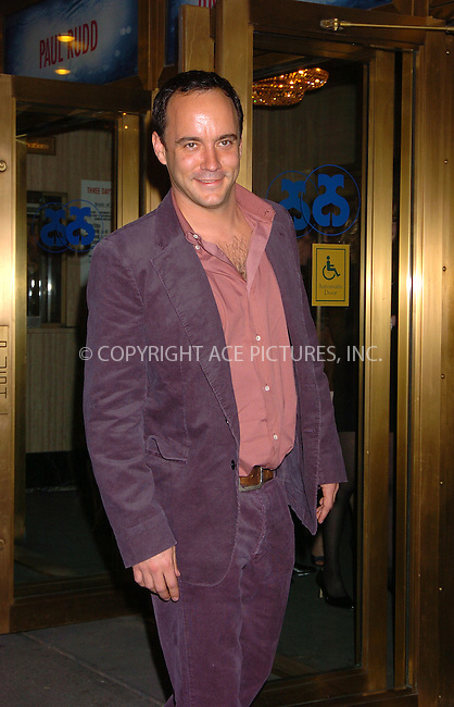 """WWW.ACEPIXS.COM . . . . . ....April 19 2006, New York City....DAVE MATTHEWS....Arrivals at the opening night of """"Three Days of Rain"""" staring Julia Roberts at the Bernard B Jacobs Theatre in midtown Manhattan....Please byline: AJ SOKALNER - ACEPIXS.COM..... . . . . ..Ace Pictures, Inc:  ..(212) 243-8787 or (646) 679 0430..e-mail: picturedesk@acepixs.com..web: http://www.acepixs.com"""