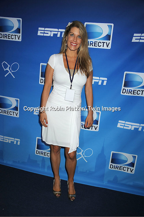 "Beth Ann Lancaster attending The ""DIRECTV Old School Challenge Presented by ESP"" on August 25, 2011 at The Lexington Avenue Armory in New York City. Tennis Legends Ivan Lendl played Pete Sampras and The Jensen and the Bryan Brothers played each other in doubles. Cee Lo Green performed afterwards."
