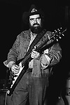 "Lonnie Mack, April 18, 1977, Boarding House, San Francisco. American blues singer and guitarist. In the early 1960s, he recorded several full-length electric guitar instrumentals which combined blues stylism with fast-picking techniques and a rock 'n' roll beat, the best-known of which are ""Memphis"", ""Wham!"", ""Chicken Pickin'"" and ""Suzie-Q"". Mack's fiery instrumentals from this period set a new standard of virtuosity for a generation of rock guitarists and formed the leading edge of the ""blues-rock"" guitar genre."