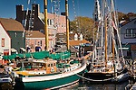 Boats at Banister Wharf, Newport, RI, USA