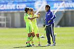 (L to R) <br /> Asano Nagasato, <br /> Saori Ariyoshi, <br />  Norio Sasaki (JPN), <br /> MARCH 6, 2015 - Football / Soccer : <br /> Algarve Women's Football Cup 2015 Group C match <br /> between Japan 3-0 Portugal <br /> at Algarve Stadium in Faro, Portugal. <br /> (Photo by YUTAKA/AFLO SPORT)[1040]