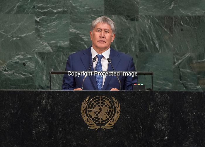 72 General Debate – 20 September <br /> <br /> <br /> His Excellency Almazbek Atambaev, President of Kyrgyz Republic