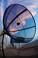 Rooftop antennas, Bangkok, Thailand