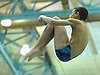 Youssef Ibrahim of Bellmore-Merrick soars through the air during the Nassau County varsity boys' diving championship at Nassau Aquatic Center on Wednesday, Feb. 3, 2016.