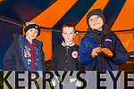 Jack O'Sullivan, Conor McCarthy and Ryan Hand, pictured at Tralee circus festival at Pearse Park on Sunday.