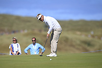 Soren Kjeldsen (DEN) on the 10th green during Round 2 of the Dubai Duty Free Irish Open at Ballyliffin Golf Club, Donegal on Friday 6th July 2018.<br /> Picture:  Thos Caffrey / Golffile