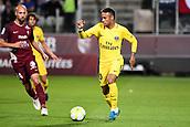 September 8th 2017, Stade Saint-Symphorien, Metz, France; French League 1 football, Metz versus Paris St Germain;  NEYMAR JR (psg) breaks away from Cohade (metz)