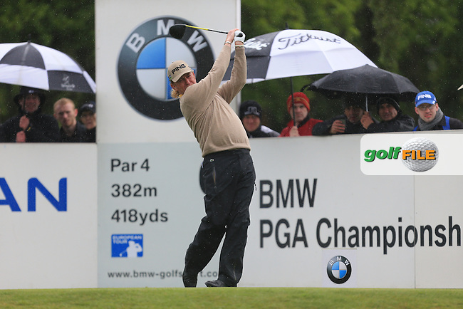 Miguel Angel Jimenez (ESP) on the 6th during round 2 at the BMW PGA Championship 2013, Wentworth Club, Virginia Water, Surrey, England. 24/5/13.Picture:  Fran Caffrey/www.golffile.ie
